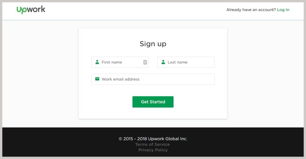 upwork regisztrálj