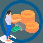 megtakarítási ikon meggazdagodik