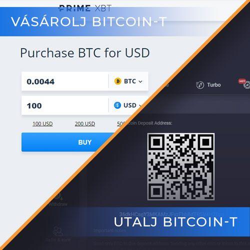 PrimeXBT Vasarolj and Utalj Bitcoin